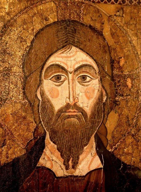 Лик Спасителя. Фрагмент византийской мозаической иконы XII века.