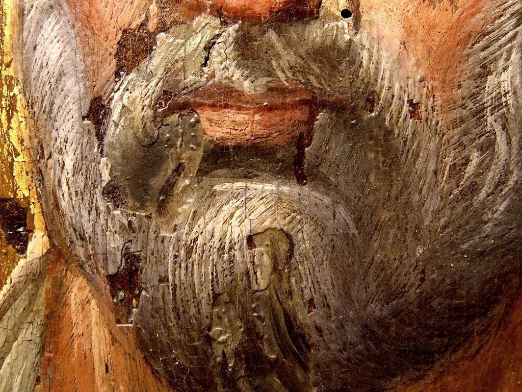 Святой Апостол Пётр. Византийская икона VI века. Выполнена в технике энкаустики. Монастырь Святой Екатерины на Синае. Фрагмент.