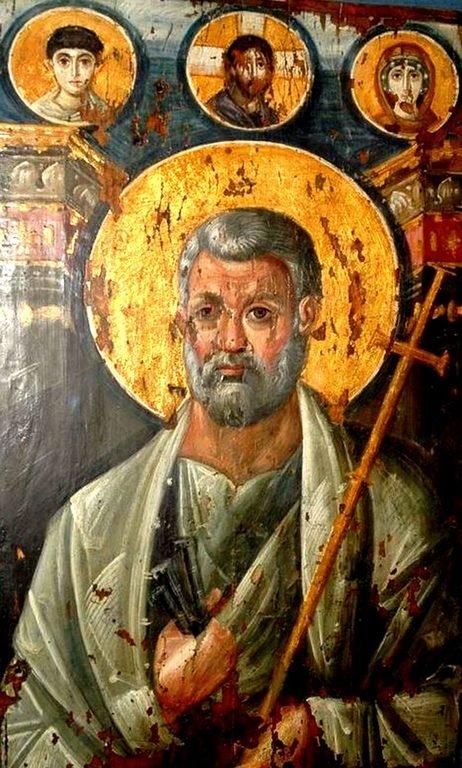 Святой Апостол Пётр. Византийская икона VI века. Выполнена в технике энкаустики. Монастырь Святой Екатерины на Синае.