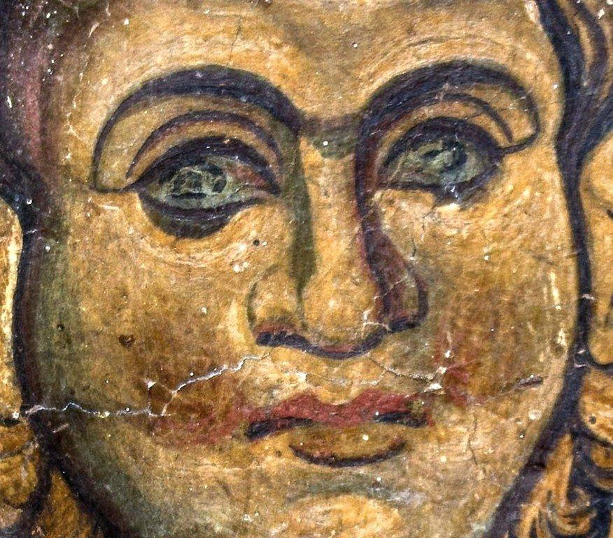Христос Эммануил. Фреска церкви Святых Врачей в Кастории, Греция. Конец XII века.