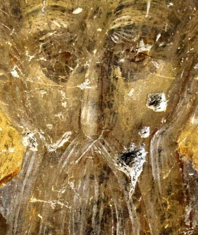 Преподобный. Византийская фреска в церкви Святого Георгия в Оморфокклисии, Греция.