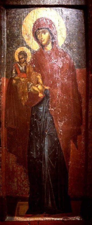 Богоматерь Дексиократуса. Византийская икона XIV века. Византийский музей в Верии, Греция.