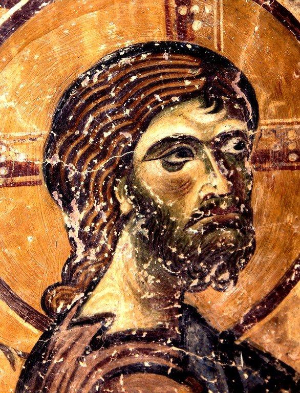 Воскрешение Праведного Лазаря. Фреска церкви Святого Георгия в Курбиново, Македония. 1191 год. Фрагмент.