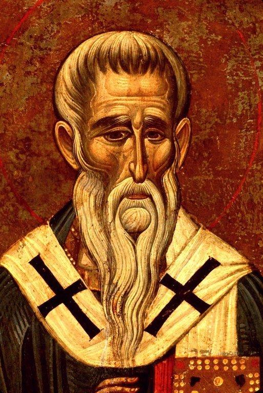 Священномученик Антипа, Епископ Пергама Асийского. Икона XIII века в монастыре Святой Екатерины на Синае. Лик Святого.