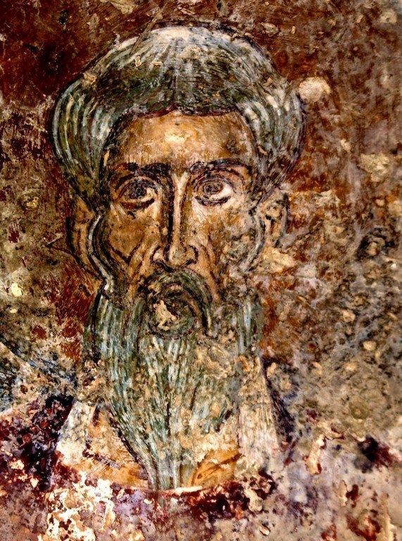 Святой Пресвитер. Фреска церкви Святого Василия у моста в Арте, Греция.