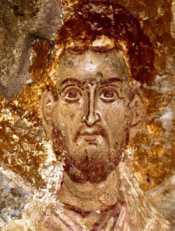 Лик Святителя. Фреска церкви Святого Василия у моста в Арте, Греция.