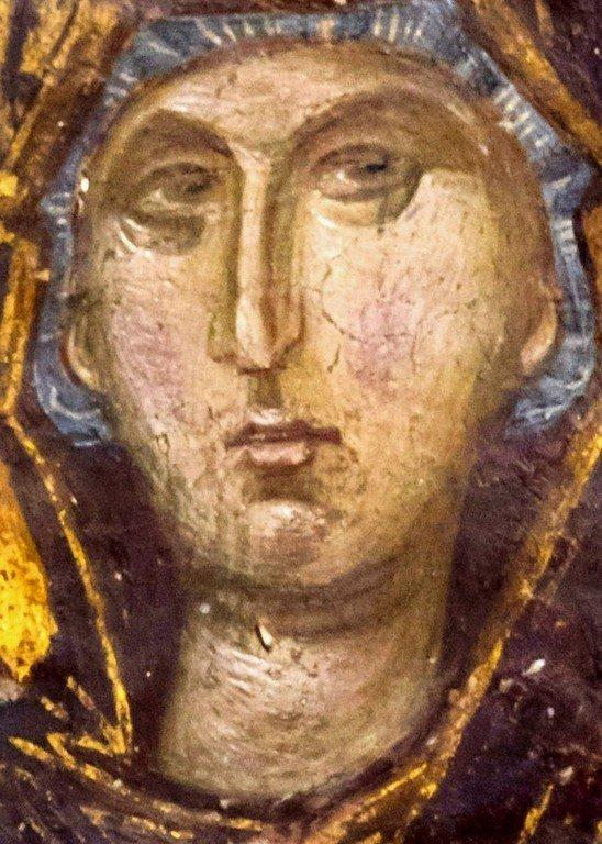Богоматерь Оранта.Фреска церкви Святого Николая Орфаноса в Салониках, Греция. 1310 - 1315 годы. Фрагмент.