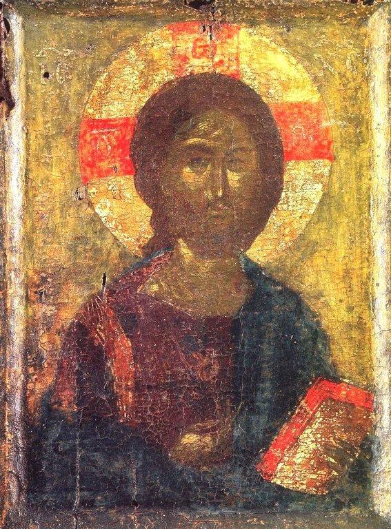 Христос Пантократор. Византийская икона конца XIV века. Монастырь Ватопед на Афоне.