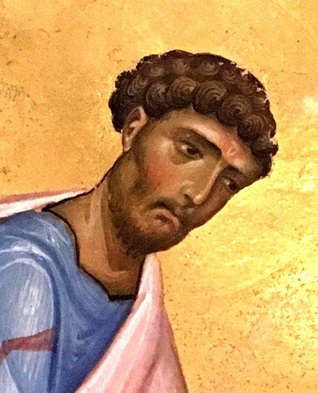 Святой Апостол и Евангелист Лука. Фрагмент византийской миниатюры.