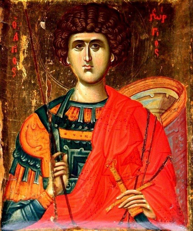Святой Великомученик Георгий Победоносец. Византийская икона. Монастырь Святой Екатерины на Синае.