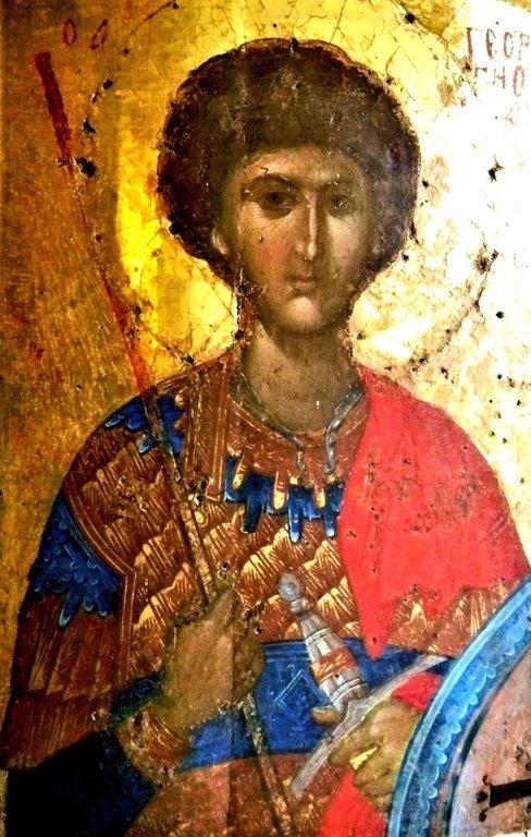 Святой Великомученик Георгий Победоносец. Византийская икона. Великая Лавра Святого Афанасия на Афоне.