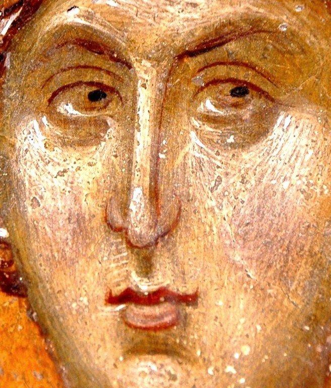 Святой Великомученик Георгий Победоносец. Фреска церкви Святого Николая Орфаноса в Салониках, Греция. 1310 - 1315 годы.