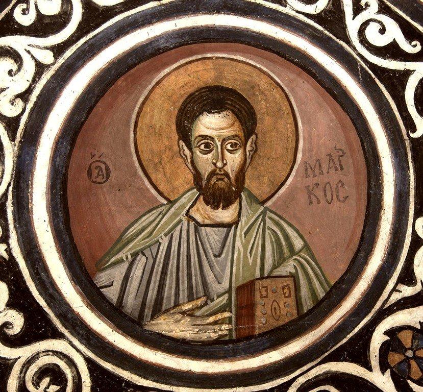 Святой Апостол и Евангелист Марк. Фреска монастыря Осиос Лукас, Греция. 1030 - 1040-е годы.