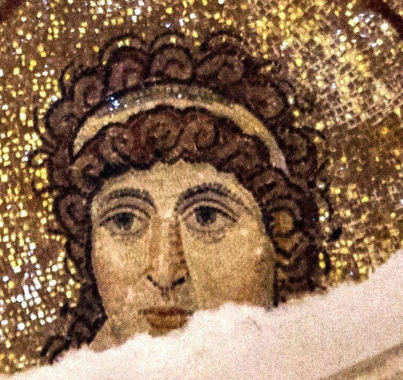 Ангел Господень. Мозаика церкви Святого Георгия (Ротонды Святого Георгия) в Салониках, Греция. IV - V вв.