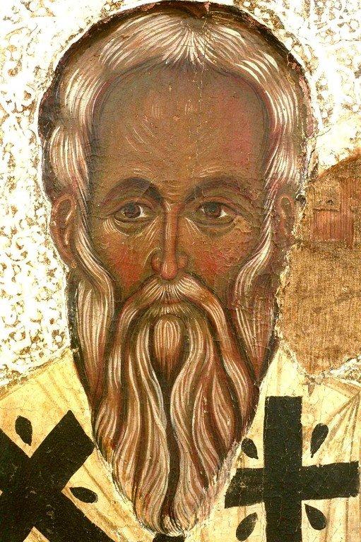 Святитель Епифаний, Епископ Кипрский. Кипрская икона. Лик Святого.