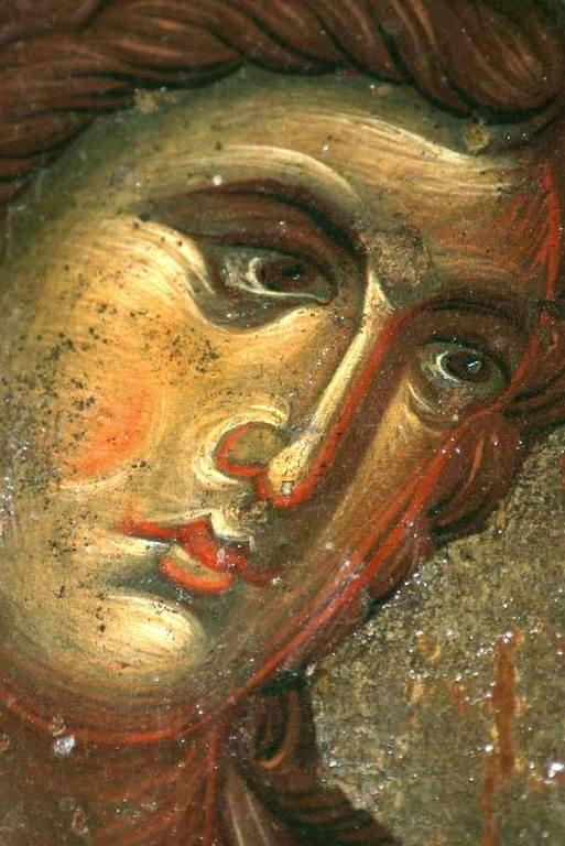Лик Архистратига Михаила. Фрагмент византийской иконы. Монастырь Святой Екатерины на Синае.