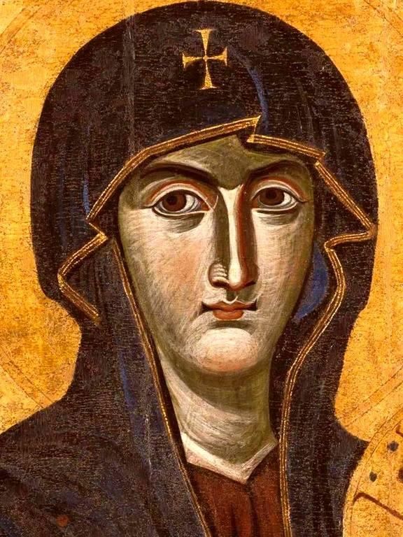 """Чудотворная икона Божией Матери """"Salus Populi Romani"""" (""""Спасение народа римского""""). Фрагмент."""