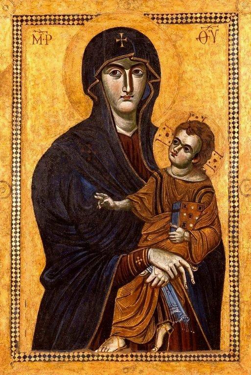 """Чудотворная икона Божией Матери """"Salus Populi Romani"""" (""""Спасение народа римского"""")."""