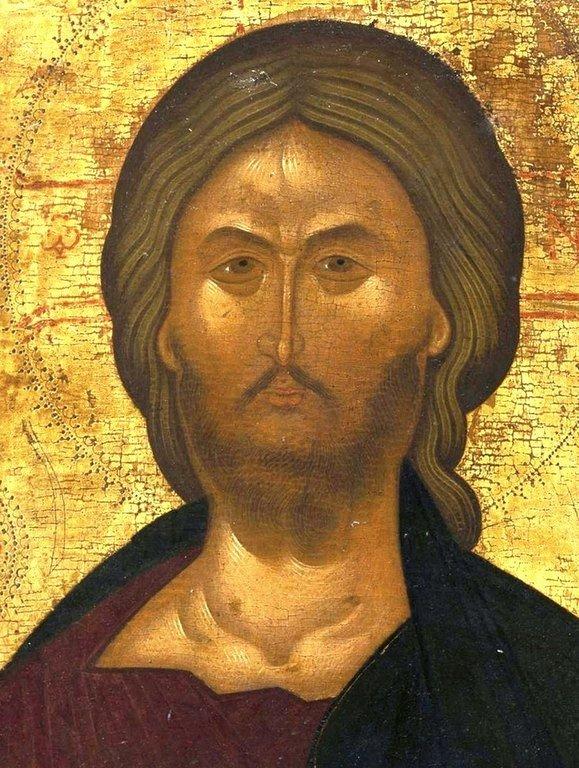 Христос Пантократор. Византийская икона. Лик Спасителя.