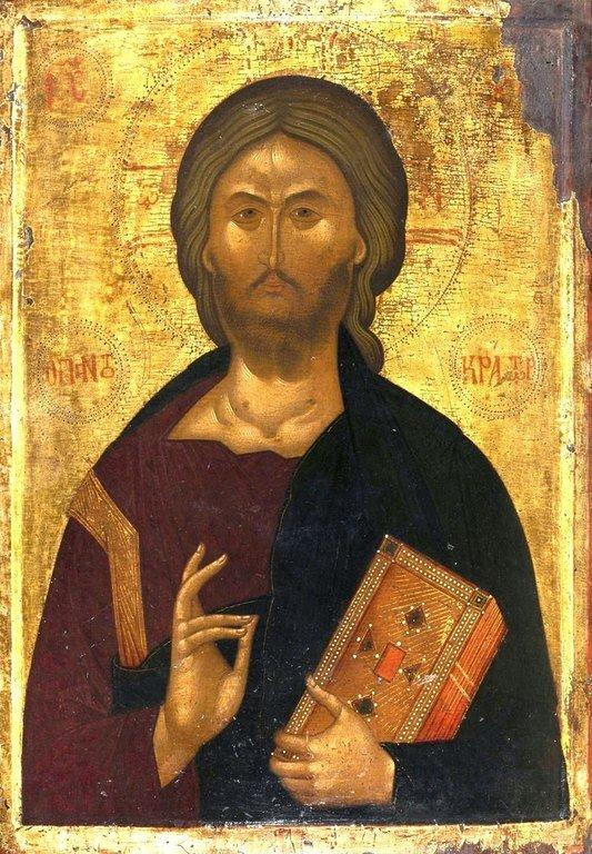 Христос Пантократор. Византийская икона.
