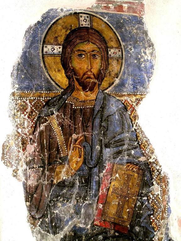 Христос Пантократор. Фреска монастыря Святого Неофита Затворника на Кипре. 1197 год.