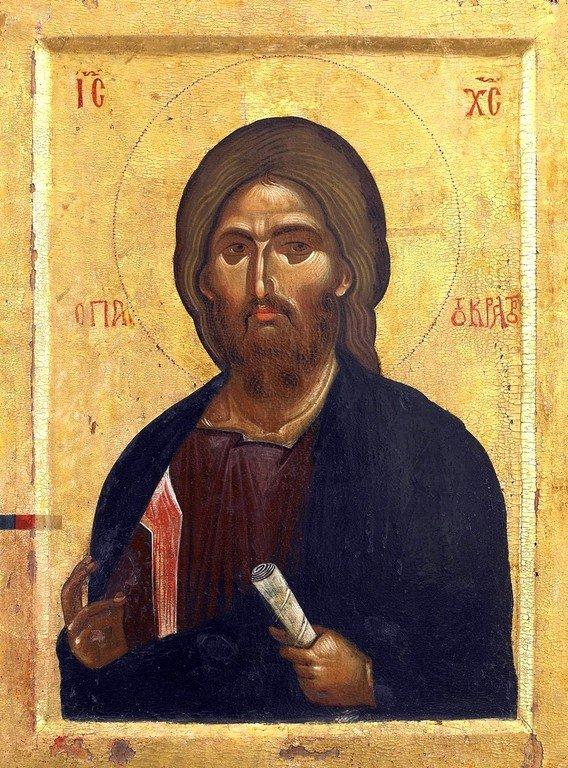 Христос Пантократор. Византийская икона второй половины XIII века. Монастырь Ватопед на Афоне.
