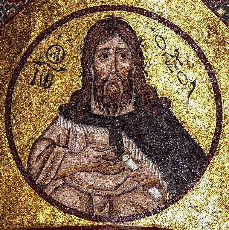Святой Иоанн Предтеча. Мозаика монастыря Осиос Лукас, Греция. 1030 - 1040-е годы.