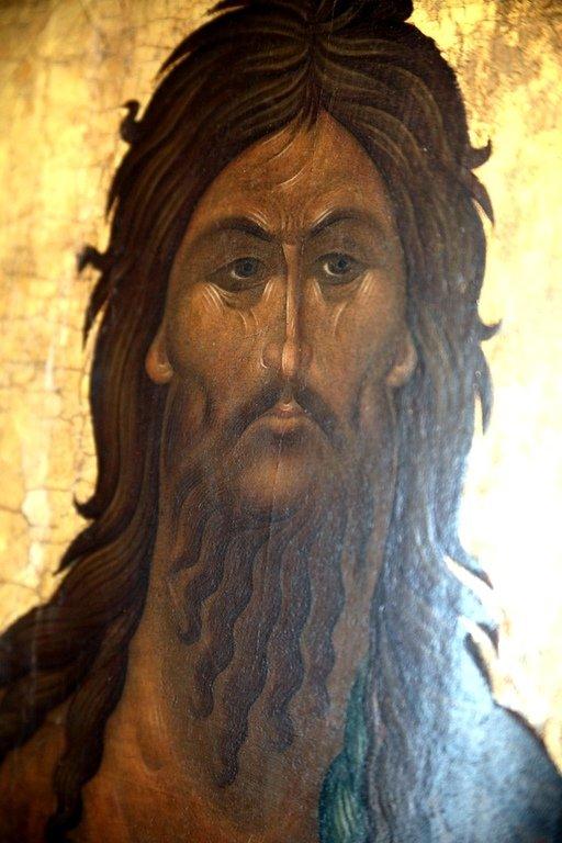 Святой Иоанн Предтеча. Икона. Византия (?), XIV век. Лик.
