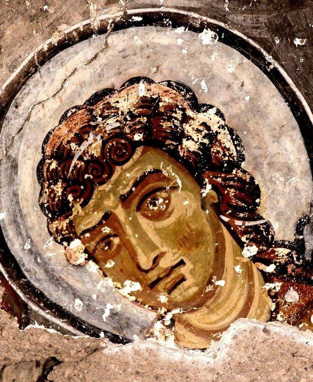 Архангел Гавриил. Фреска церкви Святого Феодора в Тагаре, Каппадокия.