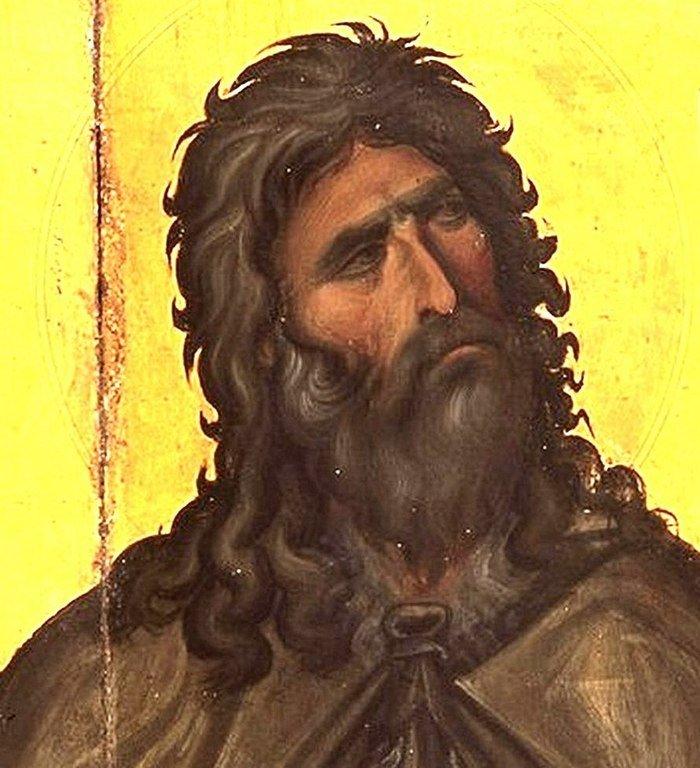 Святой Пророк Божий Илия. Византийская икона XIII века. Монастырь Святой Екатерины на Синае. Фрагмент.