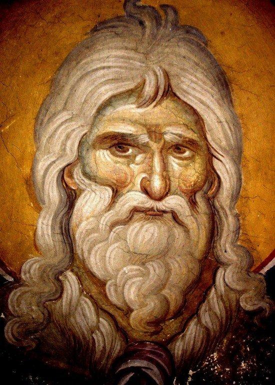 Святой Пророк Божий Илия. Фреска храма Протатон (Протат) на Афоне. Конец XIII века. Иконописец Мануил Панселин.