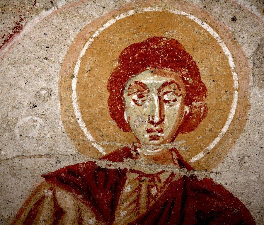 Святой Мученик. Византийская фреска. Каппадокия.
