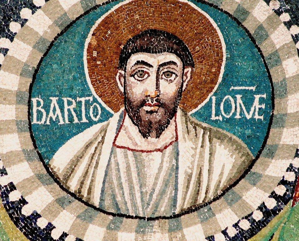 Святой Апостол Варфоломей. Мозаика церкви Сан-Витале в Равенне. VI век.