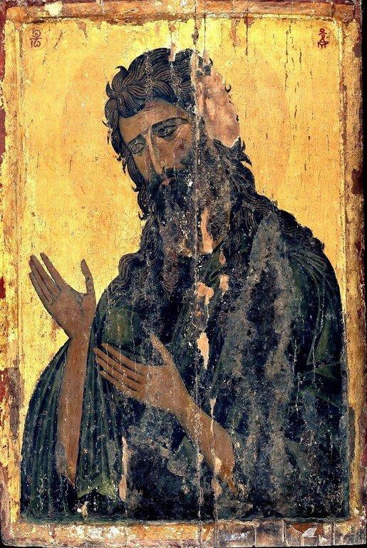 Святой Иоанн Предтеча. Византийская икона в монастыре Святой Екатерины на Синае.