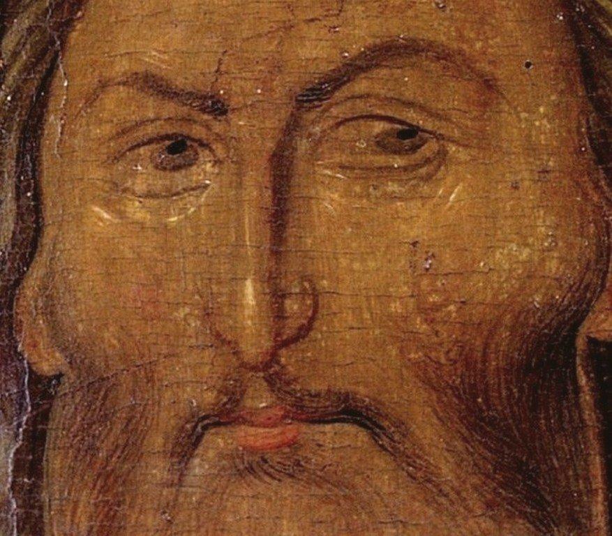 Святой Иоанн Предтеча. Византийская икона третьей четверти XIV века. Сербский монастырь Хиландар на Афоне. Лик.