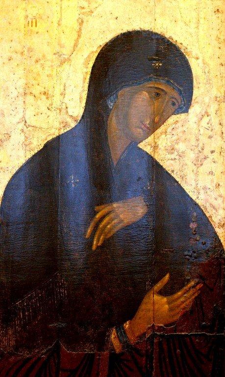 Пресвятая Богородица. Икона из Высоцкого деисусного чина. Константинополь, 1380-е - 1390-е годы.