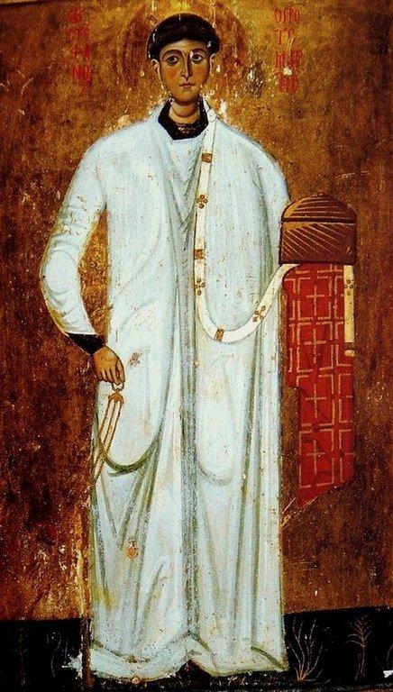 Святой Апостол от Семидесяти, Первомученик и Архидиакон Стефан. Византийская икона в монастыре Святой Екатерины на Синае.