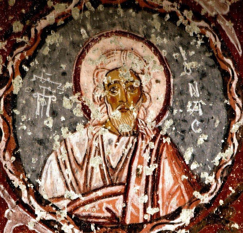 Святой Пророк Иона. Фреска церкви Сарнич килисе в Каппадокии.