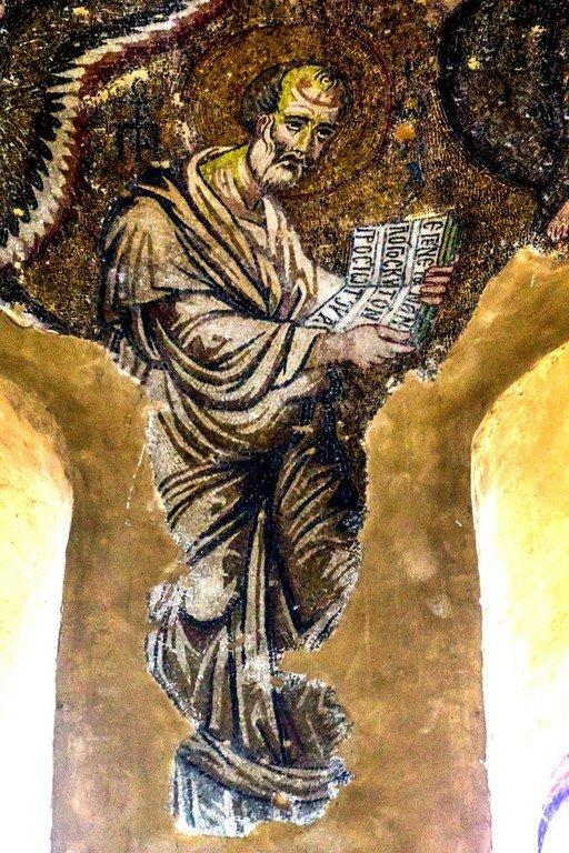 Святой Пророк Иона. Мозаика церкви Панагии Паригоритиссы в Арте, Греция. Около 1290 года.
