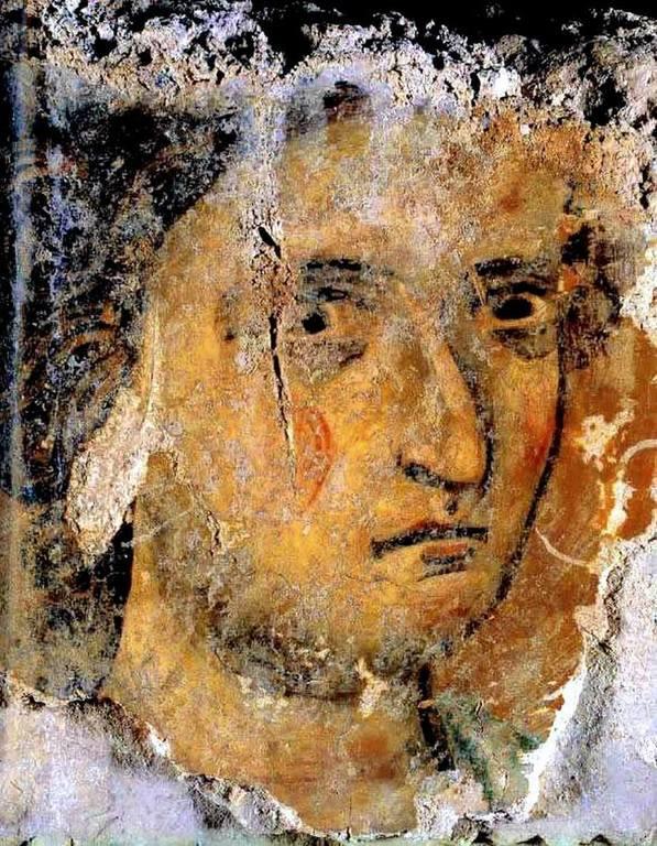 Лик Ангела Господня. Византийская фреска. Назарет.