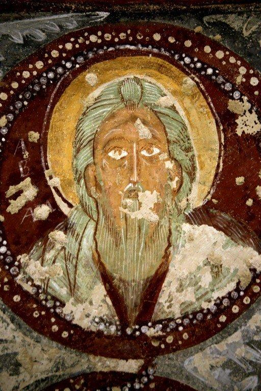 Святой Праотец Авраам. Фреска церкви Эль Назар в Гёреме, Каппадокия.
