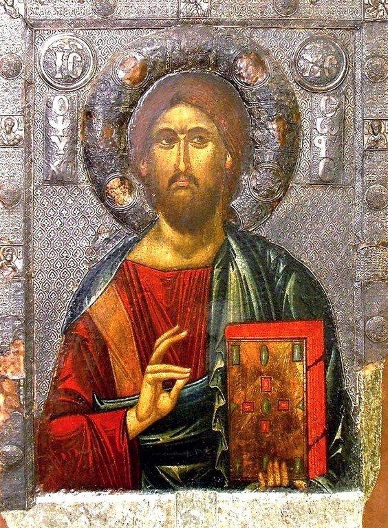 Христос Душеспаситель. Икона. Византия,около 1312—1325 годов. Галерея икон в Охриде, Македония.