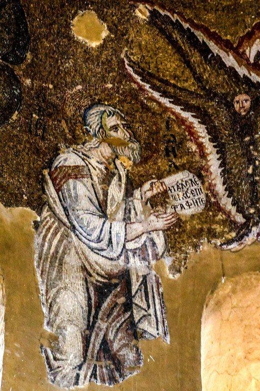 Святой Пророк Иоиль. Мозаика церкви Панагии Паригоритиссы в Арте, Греция. Около 1290 года.