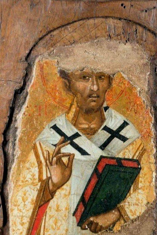 Святитель Иоанн Златоуст. Византийская икона.