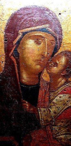 Богоматерь Елеуса. Византийская икона XIV века.