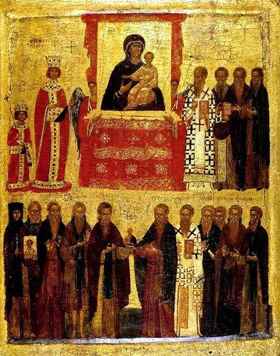 Торжество Православия. Византийская икона XIV века.