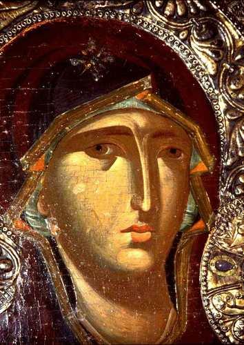 Богоматерь Одигитрия. Икона. Византия, XIII век. Галерея икон в Охриде, Македония.
