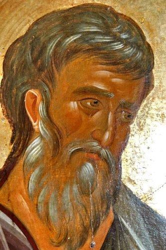 Святой Апостол и Евангелист Матфей. Икона. Византия, 1360-е годы. Сербский монастырь Хиландар на Афоне. Лик.