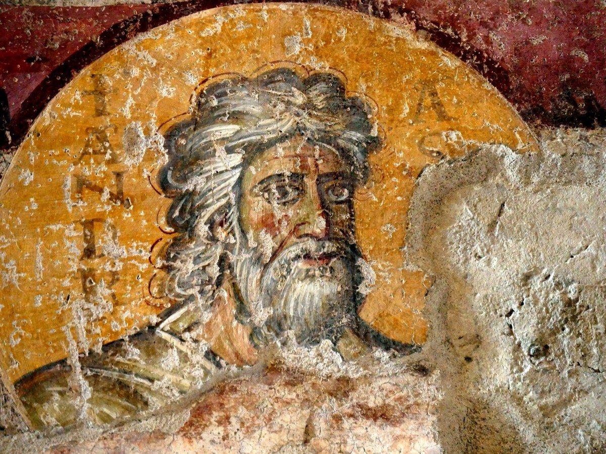 Святой Апостол Андрей Первозванный. Византийская фреска в церкви Санта-Мария-Антиква в Риме. 705 - 707 годы.