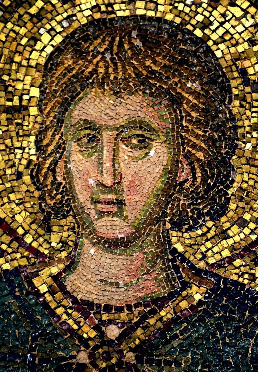 Святой Мученик Евграф Александрийский. Мозаика монастыря Хора в Константинополе. 1315 - 1321 годы.